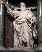 Statue of Paul the apostle — Stock Photo