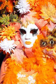 Autumn mask at the Carnival of Venice — Stock Photo