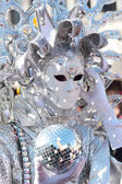 Silver mask at the Carnival of Venice — Stock Photo