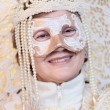 White masked lady during the Carnival of Venice — Stock Photo #61396715