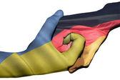 Handshake between Ukraine and Germany — Stock Photo