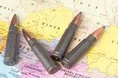 Punkter på kartan av niger — Stockfoto