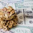 Chinese frog dollars background — Stock Photo #60140735