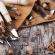 Wood carving tools — Stock Photo #57014211