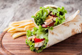 Tortilla wrap, fajita — Stock Photo