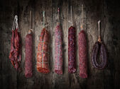 Salami sausages — Stock Photo