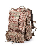 Camouflage backpack — Stock Photo