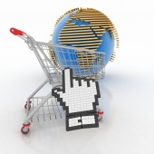 3d shopping online in Internet — Stock Photo