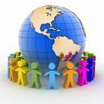 Global communication concept. World partnership. — Stock Photo #54827459