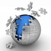Spherical jigsaw — Stock Photo