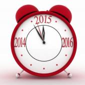 2015 year on alarm clock. 3d isolated icon on white — Stock Photo