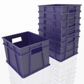 Plastic containers on a white background — Stock Photo