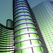 Modern office building made from glass and steel — Stock Photo #69170959
