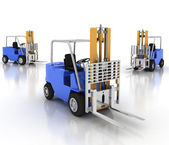 Three loaders without cargo. — Stock Photo