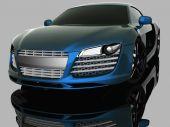 Luxury model sport car. Driving vehicle transportation concept. — Stock Photo