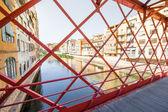 Eiffel Bridge in Girona, Catalonia, Spain — Photo