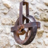 Iron pulley — Stock Photo