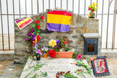 COLLIOURE, FRANCE - JULY  23: View of the Antonio Machado tomb, — Stock Photo
