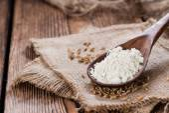 Spelt Flour with seeds — Stock Photo