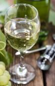 White Wine in a glass — Stock Photo