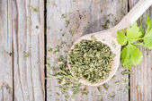 Portion of dried Lovage — Stock Photo