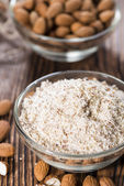 Portion of grated Almonds — Stock Photo