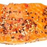 Smoked Salmon (over white) — Stock Photo #72761741