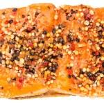 Smoked Salmon (over white) — Stock Photo #72761861