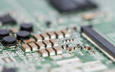 PCB with electronic Components — Stock Photo