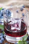 Tasty Blueberry Liqueur — Stock Photo