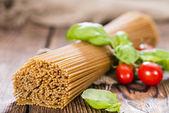 Teil der Vollkorn Spaghetti部分的全麦意大利面 — Zdjęcie stockowe