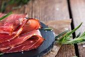Portion of sliced Ham — Stock Photo