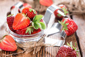 Fresh sliced strawberries — Stock Photo