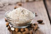 Heap of grated Almonds — Stock Photo