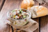 Herring Salad with bread — Stock Photo