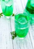 Cold beverage with Woodruff taste — Stock Photo