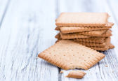 Butter Biscuits on wood — Stock Photo