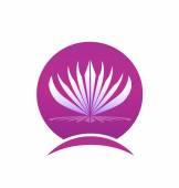 Lotus frame company logo — Stock Vector