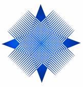 蓝色的抽象图形应用程序的名片徽标 — 图库矢量图片
