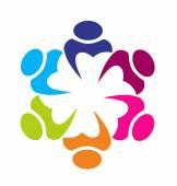 Logo union business partners icon concept — Vector de stock