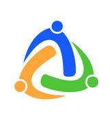 Logo trial business partnership union concept — Stock Vector