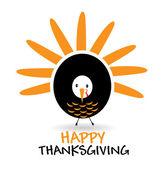 Turkey Thanksgiving concept logo — Stock Vector