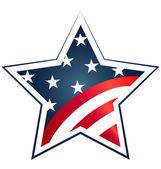 USA star Flag illustration. Vector icon symbol design — Stock Vector