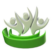 Logo teamwork 3D people icon — Stock Photo
