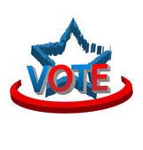 Vote America USA flag logo vector — Stock Vector