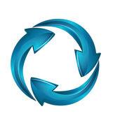 Success Arrows business logo 3D vector — Stock Vector