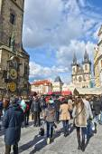 People walking in Prague — Stock Photo