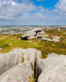 Carn Brea Hill Cornwall — Stock Photo