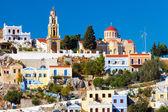 Buildings at Symi Greece — Stockfoto