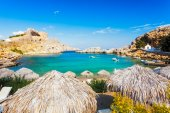 St Pauls Bay Lindos — Stock Photo
